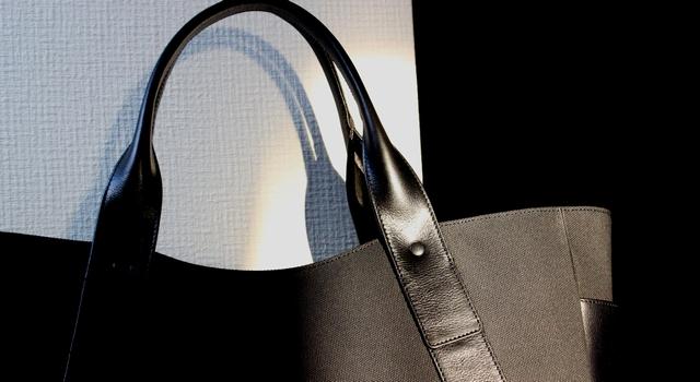 本革×帆布コンビトートバッグ
